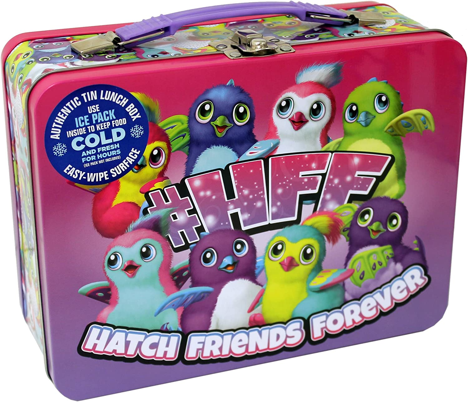 Hatchimals 444707 Classic Lunch Box Sized Tin, 5
