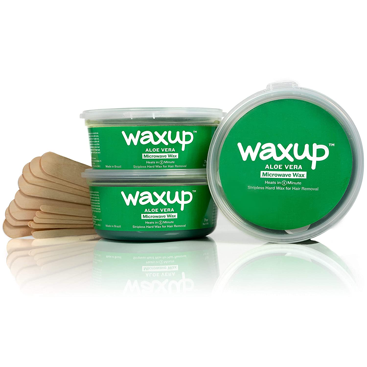Amazon Com Waxup Microwave Hard Wax Kit Aloe Vera 3 Pack Of 7
