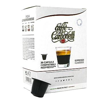 120 Cápsulas de Café Compatibles Nespresso - Caffè Carbonelli mezcla clásica - espresso napolitano