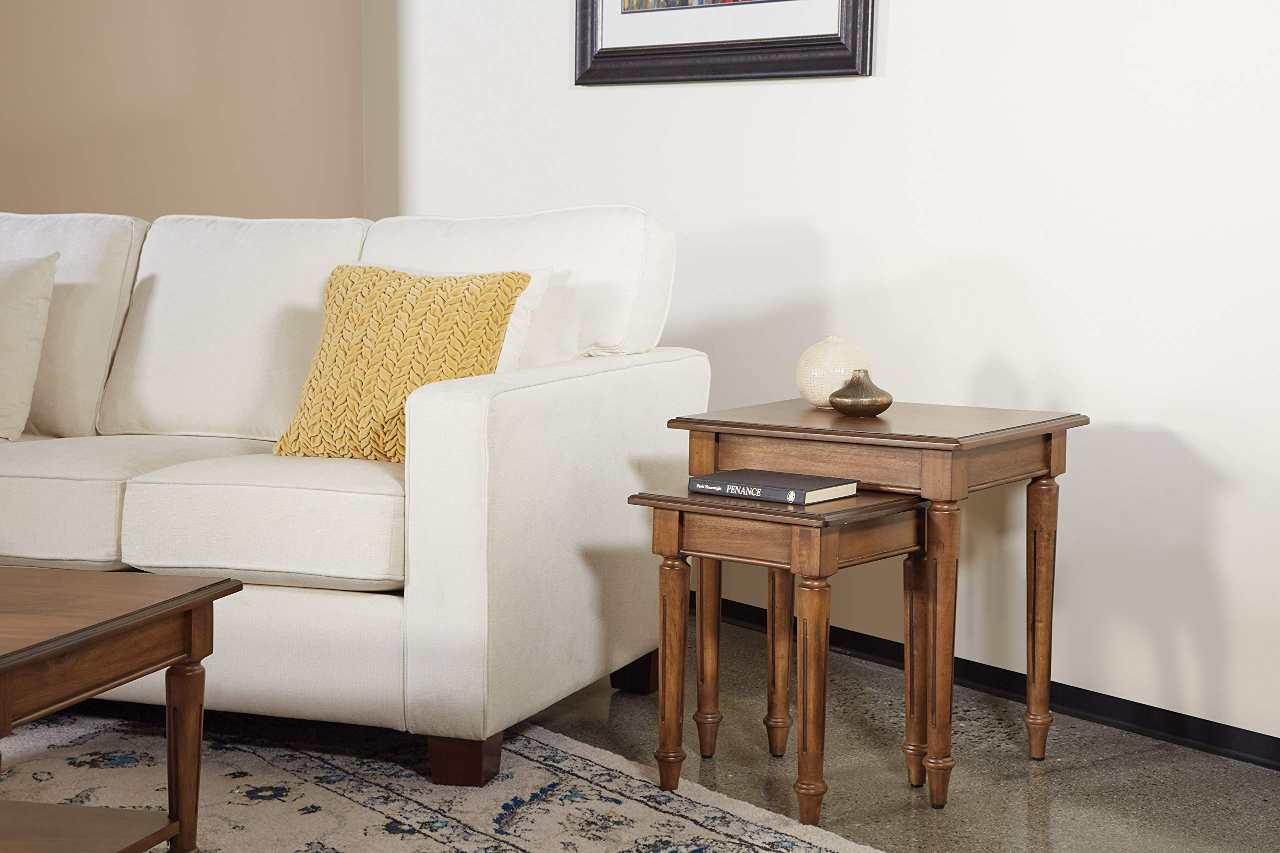 OSP Home Furnishings Bandon Nesting Tables, Ginger Brown by OSP Home Furnishings