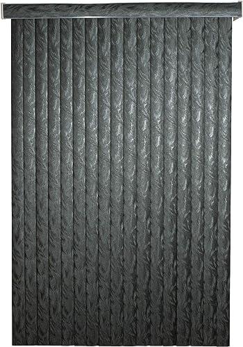Black Frisco Textured Vinyl Vertical Blind