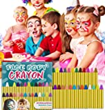 HENMI Face Paint Crayons,28 Colors Body Painting Kits,Makeup Face Body Tattoo Crayons Kit Non-Toxic Sticks for Toddlers Halloween/Christmas/Makeup Cosplay,EN71 Certified