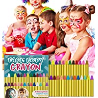 HENMI Pintura Facial Ninos, 28 Colores cara y cuerpo Kit Pintura Lápices de Colores para niños, pinturas cara para niños para Halloween, Fiestas, Eventos.