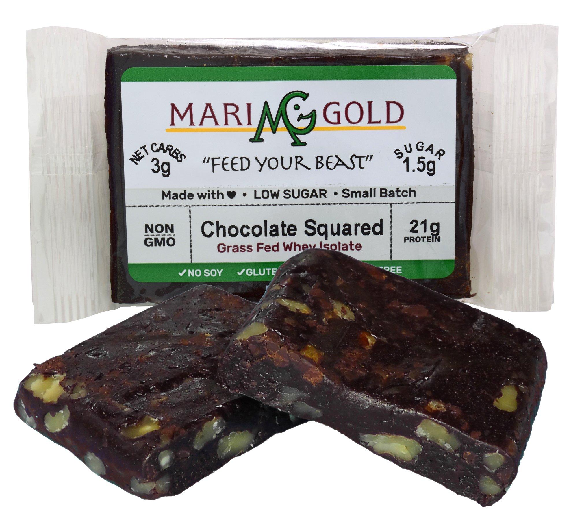 Keto (2-3 NET CARB) Protein Bar by MariGold - Amazing Taste Ketogenic Snacks - Organic Fats, 1 g Sugar, 21 g Protein GRASS FED Whey - Non GMO. Made Fresh, Ships Fresh. (12 bars) by MariGold Bars (Image #6)