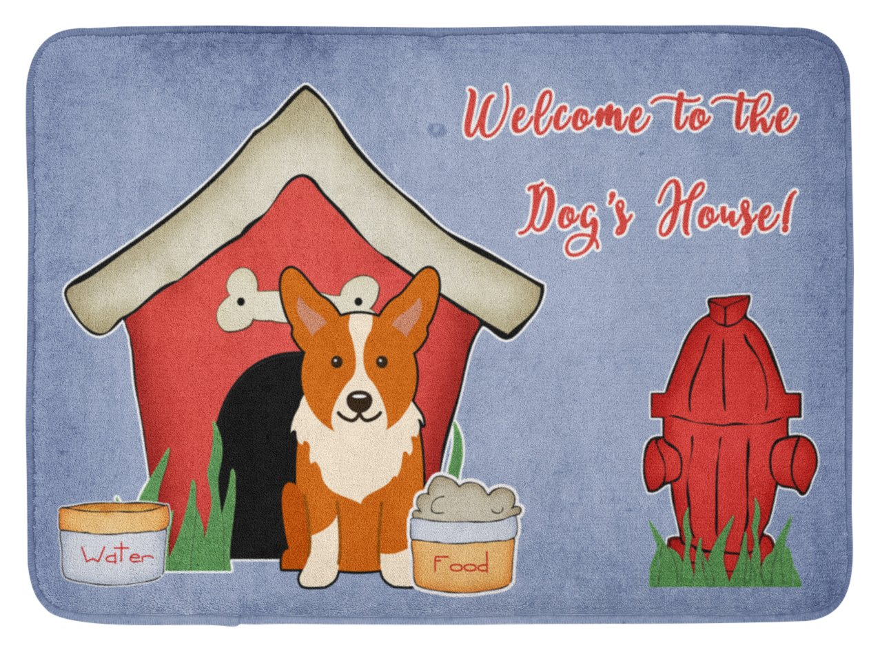 Multicolor 19 x 27 Carolines Treasures Dog House Collection Corgi Floor Mat