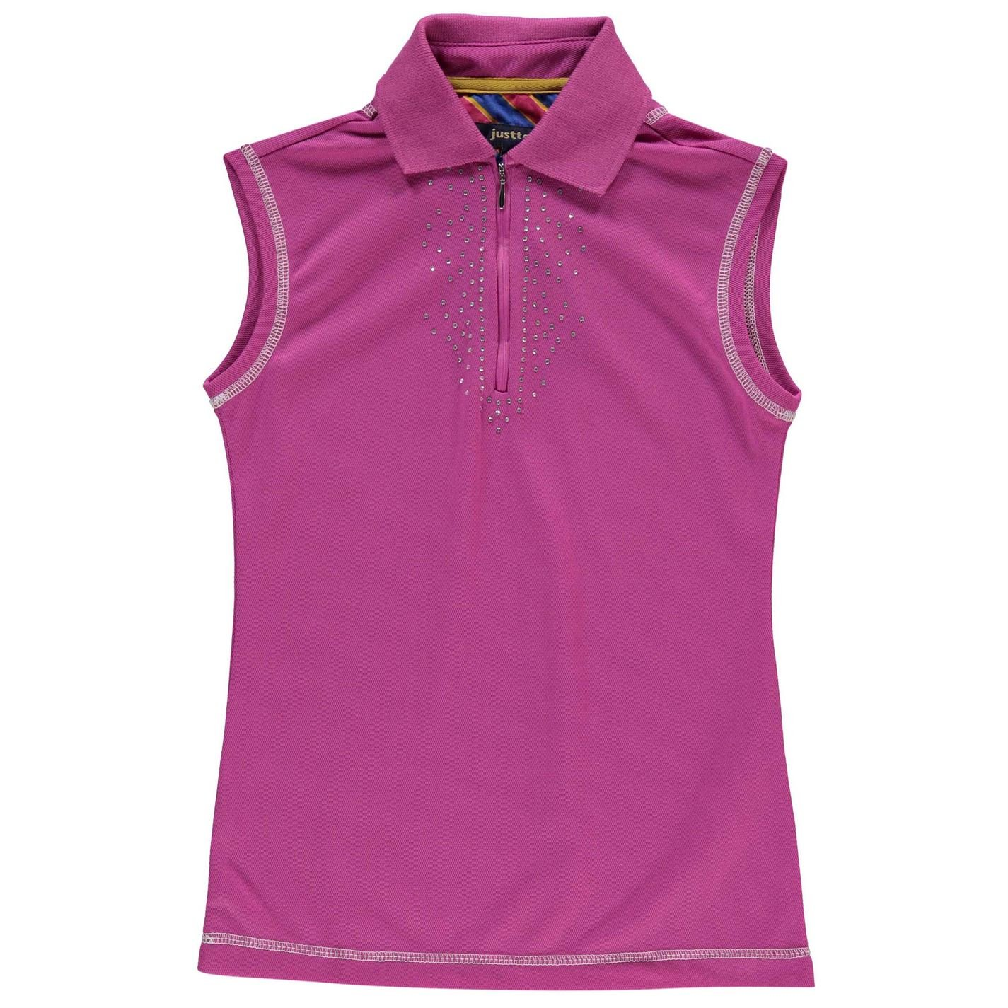 Just Togs Niños Jessica Polo Camisa Sin Mangas Casual Rosa 9-10(SG ...