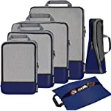 Bagail 4 Set/6 Set Compression Packing Cubes Travel Expandable Packing Organizers