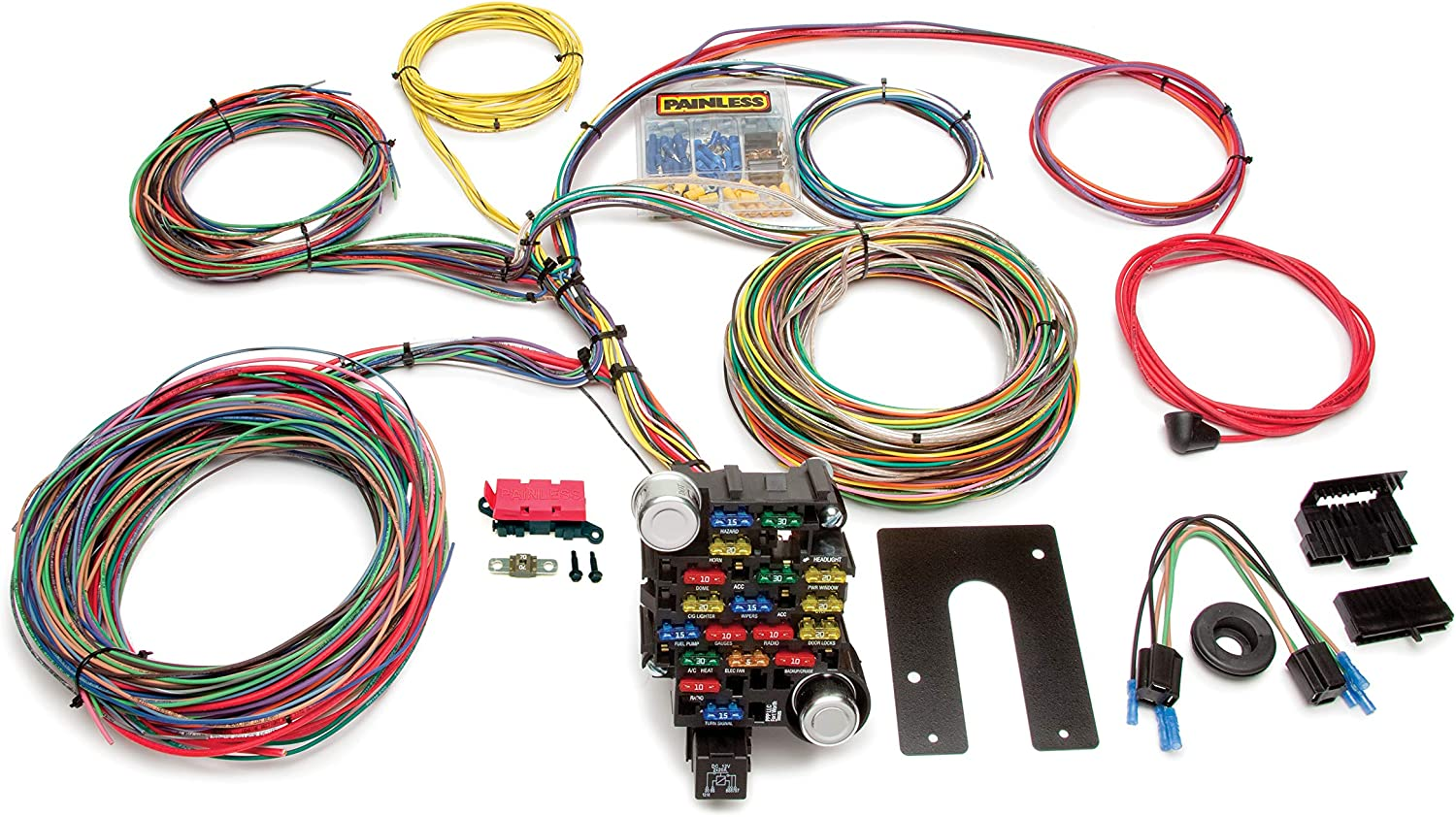 [SCHEMATICS_4US]  Amazon.com: Painless Performance 10202 Classic-Plus Customizable Chassis  Harness, Key in Dash, 28 Circuits: Automotive | Wiring Diagram Painless Harness Electrical Source |  | Amazon.com