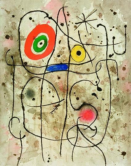 Amazon.com: Joan Miró - Composition Au Visage, Size 12x16 inch ...