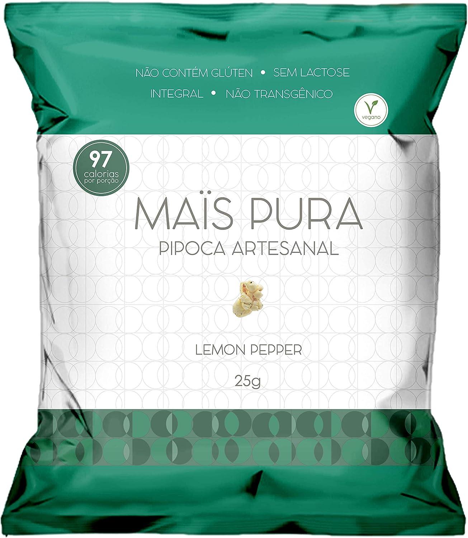 Pipoca Artesanal Sabor Lemon PePPer Maïs Pura 25g