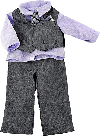 18 Inch Doll Outfit Gray and Black Formal Outfit