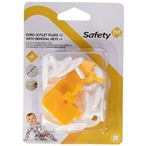 Safety 1st Cache Prises avec Clés Blanc 12 Pièces