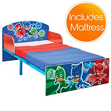 5ffd24077f97 PJ MASKS Toddler Bed with Foam Mattress  Amazon.co.uk  Kitchen   Home