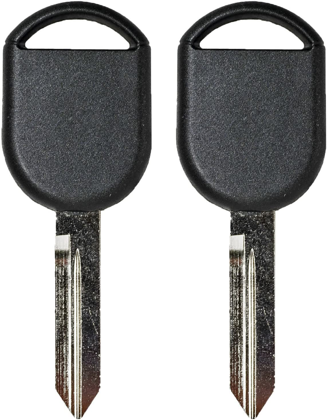 QualityKeylessPlus TWO Replacement Transponder Chip Keys H92PT for Ford Vehicles with FREE KEYTAG