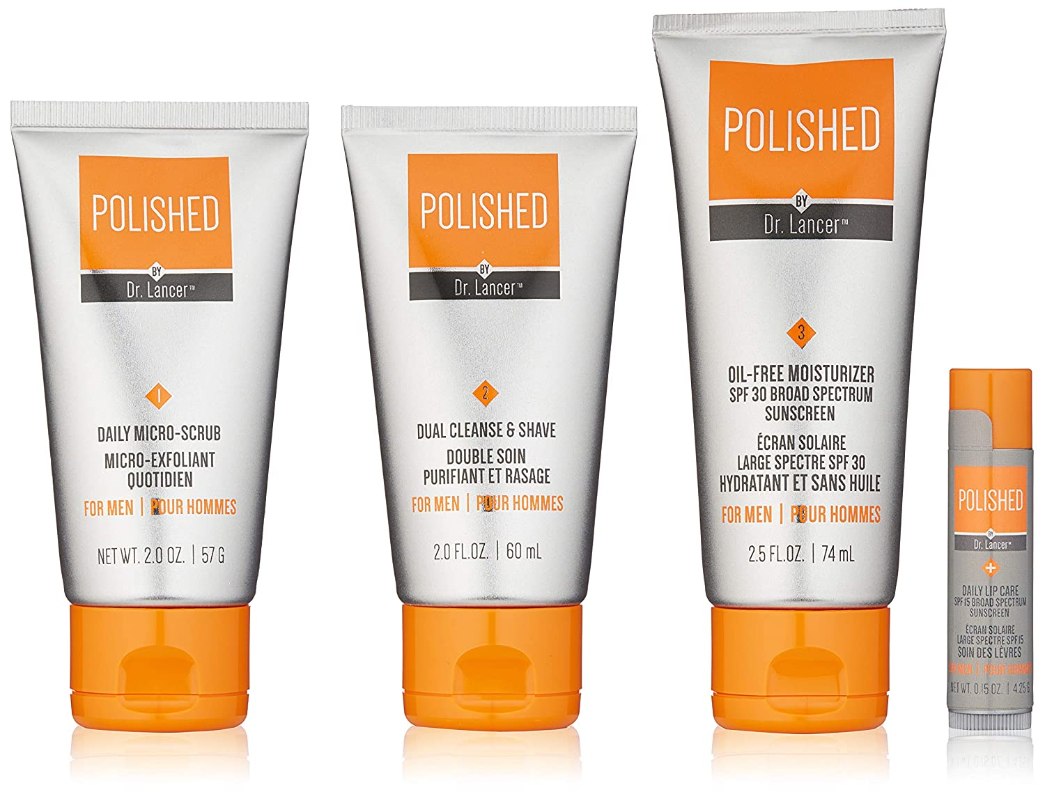 84a0eef8087 Amazon.com: Polished by Dr. Lancer Deluxe Men's Skincare Travel Kit, 0.6  lb.: Luxury Beauty