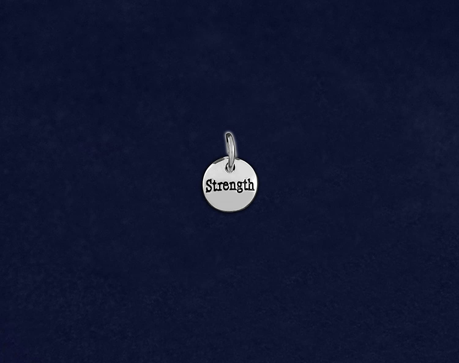 Retail Fundraising For A Cause Silver Circle Strength Charm