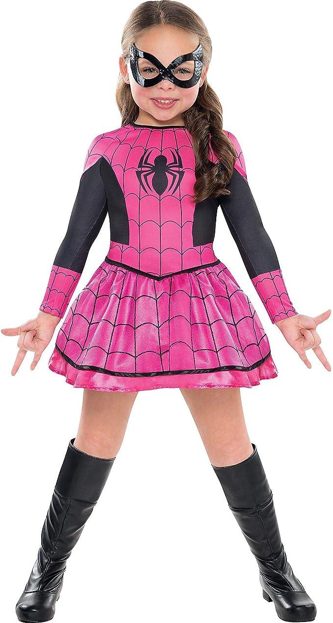 SUIT YOURSELF Disfraz de araña rosa para niñas de 3 a 4 años ...