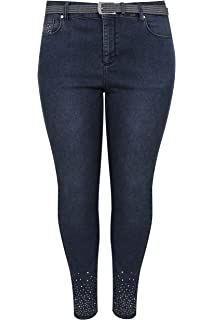 3de7ddc0df8 ... Limited Collection Acid Wash Skinny Jeans. £16.00 · Yours Clothing  Women s Plus Size Skinny Diamante Ava Jeans Studded Belt