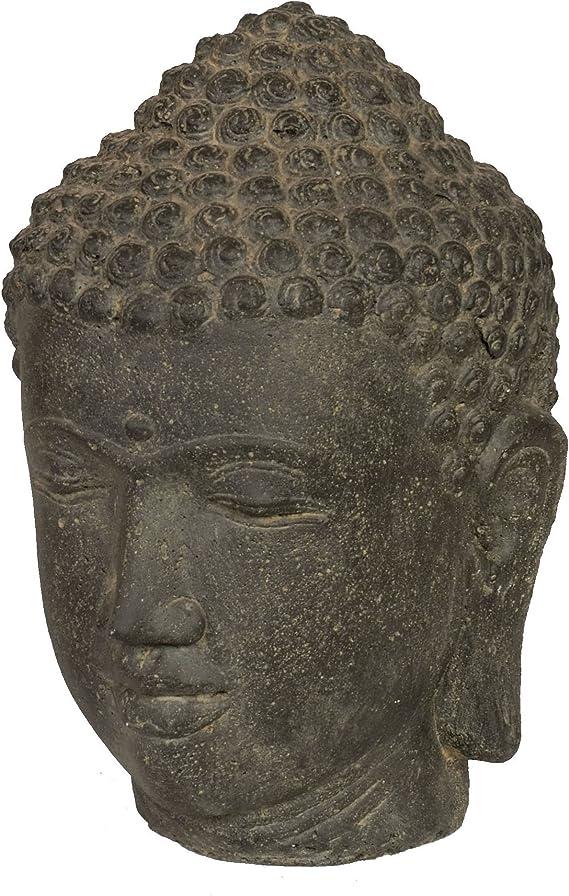 Escultura de Buda de la cabeza de piedra de hierro fundido de/de ...