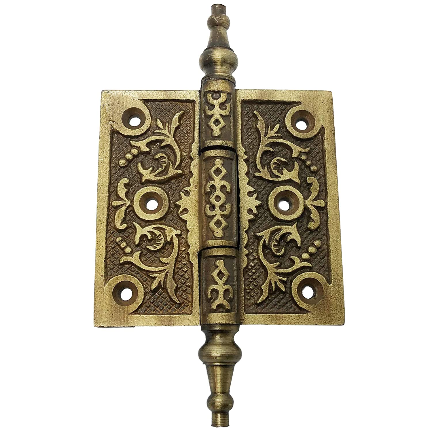 6 Iron Hinge Ornate Iron Victorian Hinges Antique Style Iron Hinge for Doors cabinets 2 HG-102 barn Door Hinges Gates