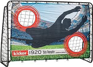 Hudora voetbaldoeltrainer met deurwand, kicker-jubileum & standaard editie, voor in de tuin (213 x 152 x 76 cm) met eenvoudige klikmontage