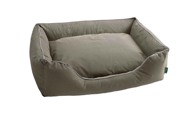 HUNTER Vancouver 61415 perro cama tamaño M exterior zona 87 x 67 x 24 cm Interior cojín 68 x 45 cm gris/marrón: Amazon.es: Productos para mascotas