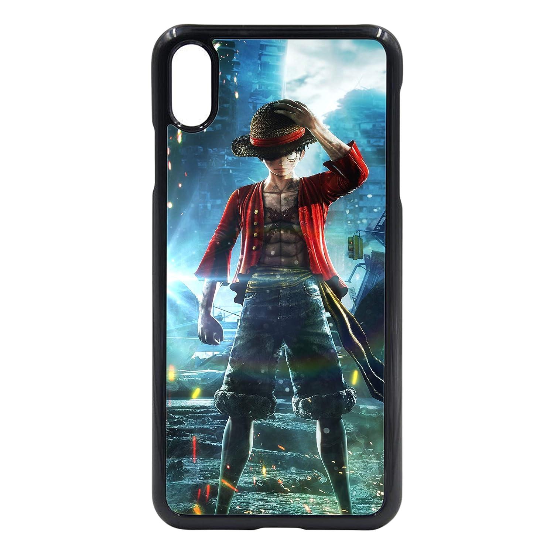 iPhone 5S / SE用JStarsルフィワンピースハードプラスチック製保護シェル携帯電話ケースiPhone 6 iPhone 6S iPhone 7/8 iPhone X/XS iPhone XRクールアニメギフト(iPhone X/XS、ブラック)   B07L43XN6T