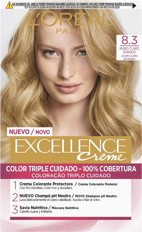 LOréal Paris Excellence Coloración Crème Triple Protección 8,3
