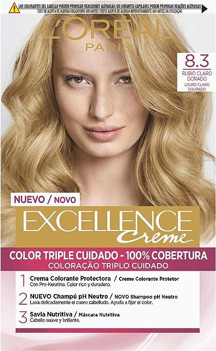 LOréal Paris Excellence Coloración Crème Triple Protección 8 ...