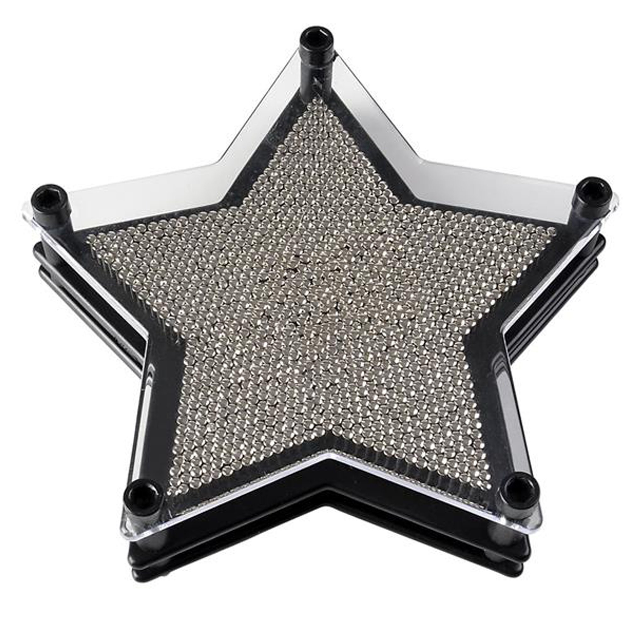 "ArtCreativity 6"" Star Pin Art Game for Kids or Adults Pin Art Toy for Autistic Kids-Stainless Steel Metal Pins, Sturdy Plastic Frame-Great Party Favor/Gift for Boys-Girls/Office Desk Decoration"