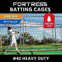 10 x 10 x 35 Baseball Batting Cage - #42 Heavy Duty Net [Net World] 24hr Ship