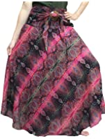 Bohemian Skirts Flower Style For Women Hippie, Maxi Skirt Size 0-12 US Size