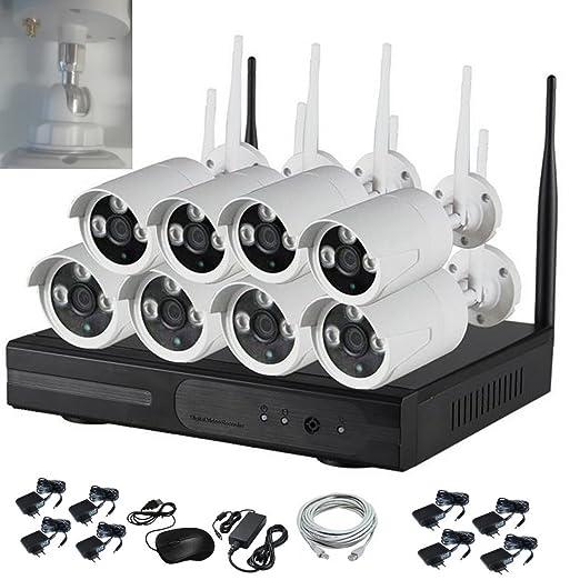 """2 opinioni per Kit professionale """"ITALIAN ALARM"""" originale 8 telecamere wireless 2.0 mpixel"""