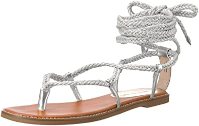 031bc8b90c1 Madden Girl Women s Juliie Gladiator Sandal Silver Paris 7 ...