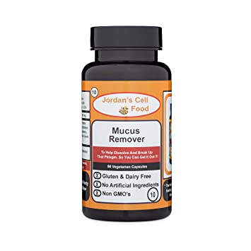 Amazon com: Mucus Remover (Inspired by Dr  Sebi ) Qty: 90 Capsules