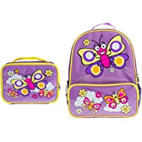 Bugzz Kids Stuff Children's School Bag Set - Backpack and Lunch Bag