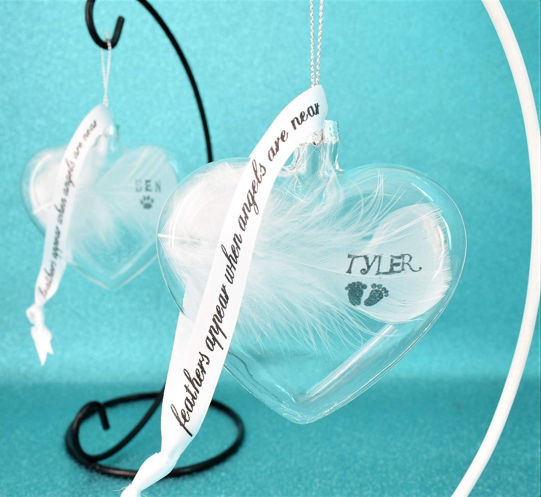 "Felt Heart /""Feathers appear when Angel/'s are near/""  Hanging decoration keepsake"
