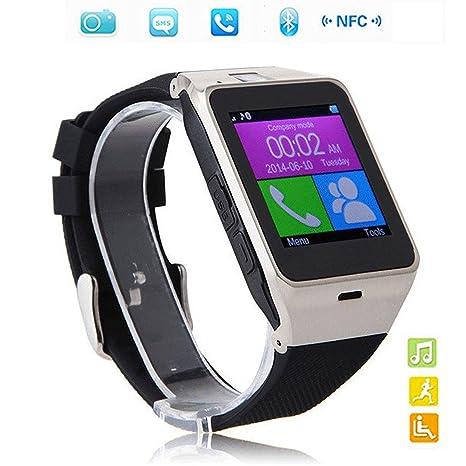 Reloj Inteligente Smart Watch con Bluetooth 3.0 Teléfono Inteligente Amarre Pulsera con 1.5 inch Pantalla Táctil