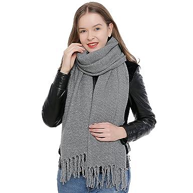 DonDon Grande écharpe d hiver douce pour femme Oversize XXL 190 x 60 cm - 34317cf6673