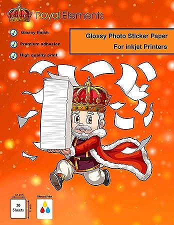 Amazon.com: Royal Elements - Papel adhesivo para impresoras ...