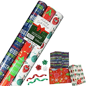 amazon com christmas wrapping paper holiday gift wrap premium