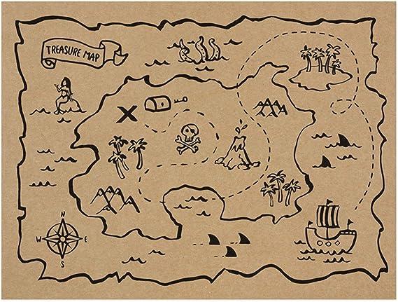 PartyDeco- 30 manteles Individuales de Papel Americano con Mapa ...
