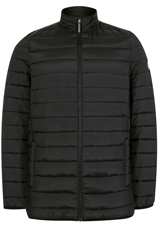 cfea3e8115 Badrhino Men s Big and Tall Black Padded Zip Through Jacket  Amazon.co.uk   Clothing