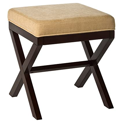Astonishing Amazon Com Stylish Vanity Stool Bench With Geometric X Dailytribune Chair Design For Home Dailytribuneorg