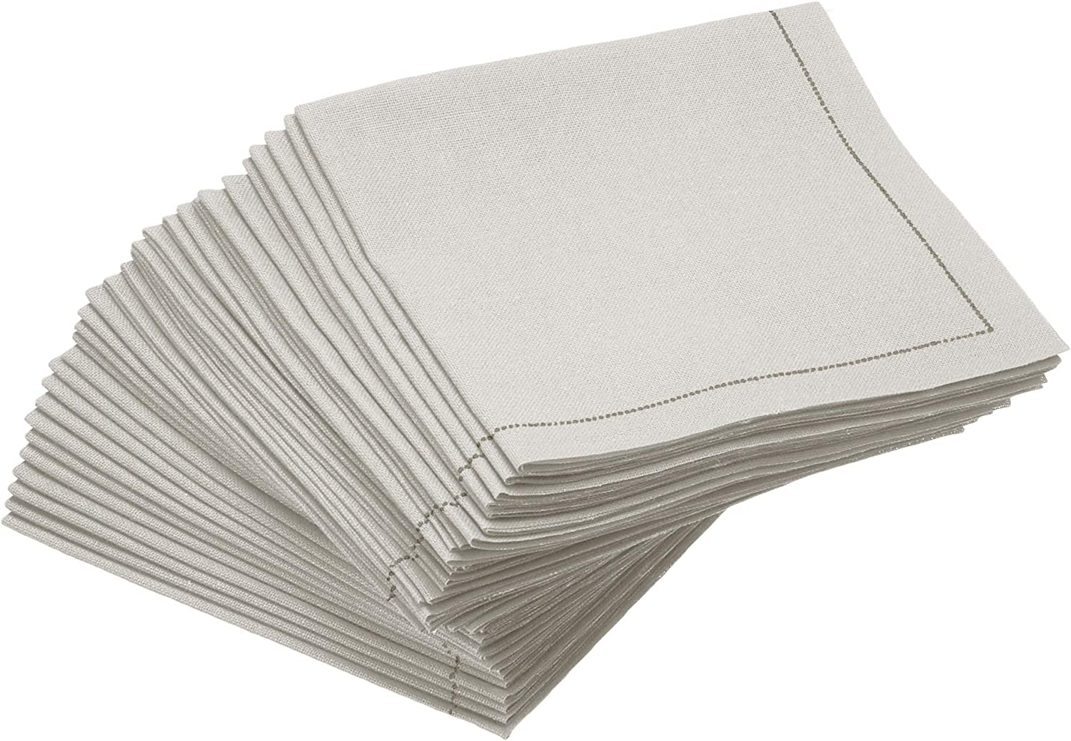 Signature Napkins 100% Cotton 1/4 Fold Cocktail Napkin, 30-Pack, 8