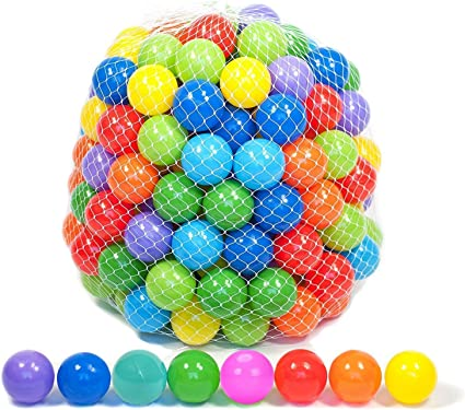 Angels Kidz New Kids Plastic Soft Play Balls for Children Ball Pits Multi Colour
