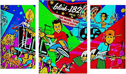 Did it again Blink 182 Design Modular Pictures Painting Wall Art Decor Home Room Decoration Canvas Printed. Gift idea
