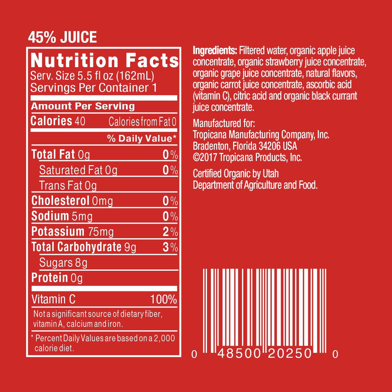 Tropicana - Bolsa para zumos (100% orgánica): Amazon.com ...