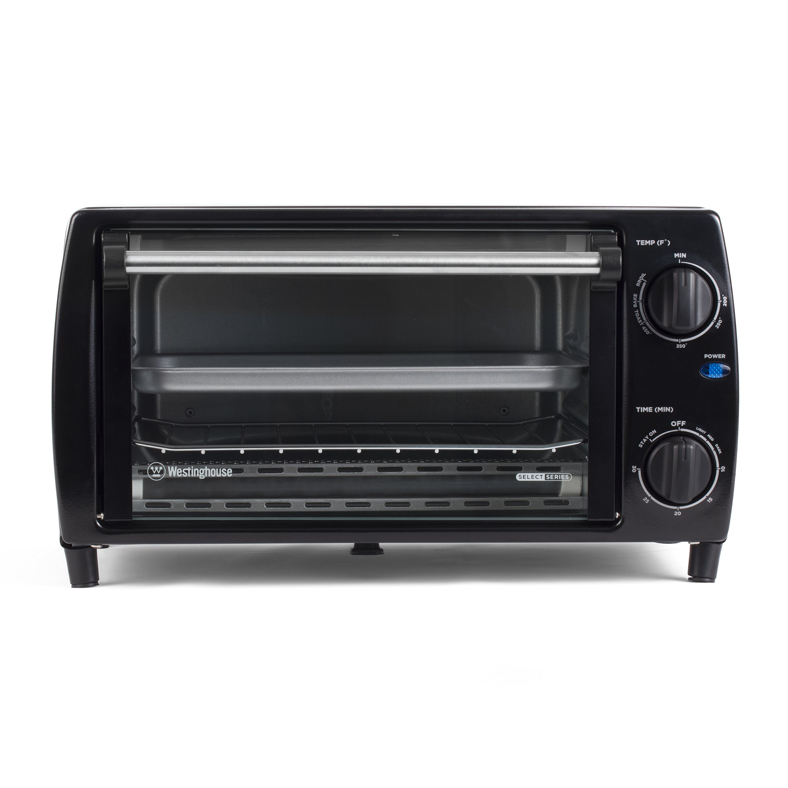 westinghouse select series wto1010b 4 slice countertop toaster oven black new. Black Bedroom Furniture Sets. Home Design Ideas