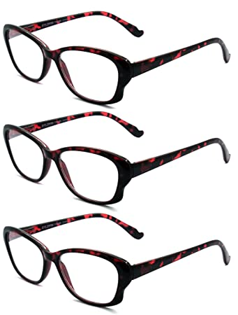 5a203d23ba65 Amazon.com  EYE-ZOOM 3 Pairs Cat Eye Tortoise Color Frame Reading ...
